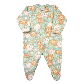 Macacão Pijama Bebê Ano Zero Microsoft Estampado 21 Masculino