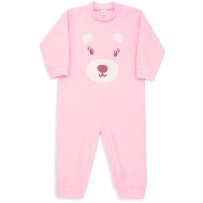 Macacão Pijama Dedeka Soft Bebê Urso Feminino-Feminino