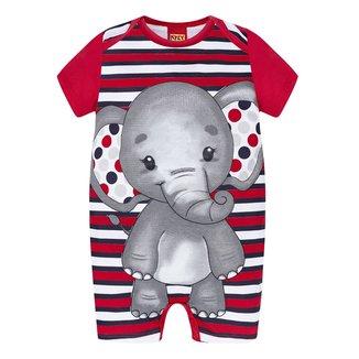 Macaquinho Bebê Kyly Banho de Sol Romper Elefante Masculino
