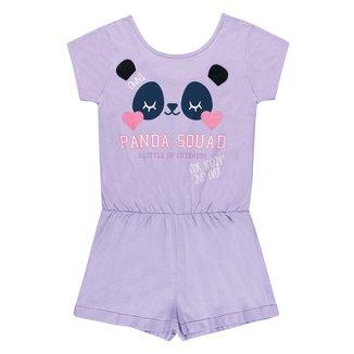 Macaquinho Infantil Kamylus Panda Feminino