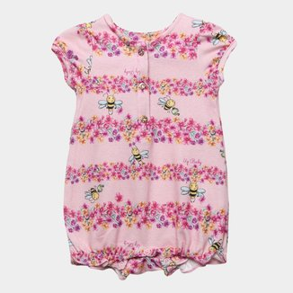 Macaquinho Infantil Up Baby Floral Feminino