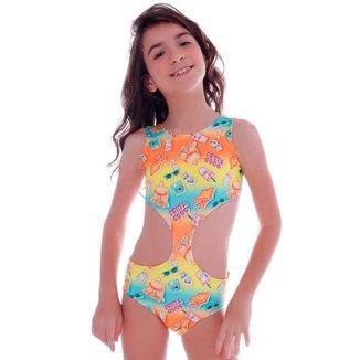 Maiô Infantil 4 em 1 Summer Good Vibes  Cecí