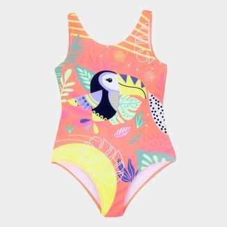 Maiô Infantil Brandili Com Proteção UV 50+ Estampado Feminino