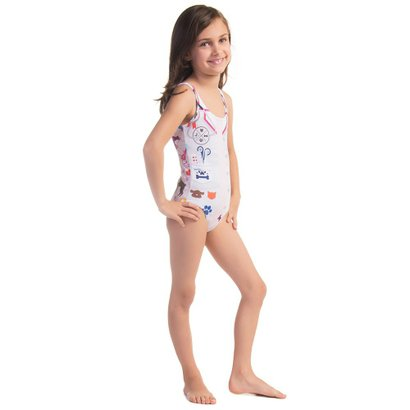 Maiô Infantil Swim Colors Salvadora Bichinhos
