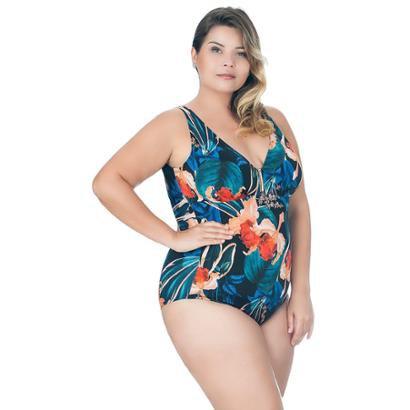 Maiô Plus Size De Compressão Estampado Agridoce Feminino