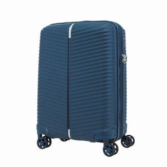 Mala de Bordo Pequena para Viagem Expansível em Polipropileno Samsonite Varro Cadeado TSA Marinho