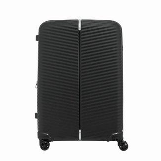 Mala de Viagem Media Expansível em Polipropileno Samsonite Varro Cadeado TSA Preta