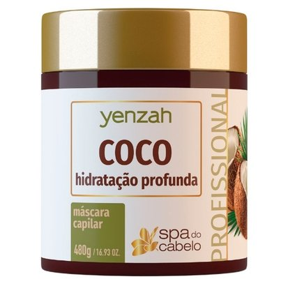 Máscara de Hidratação Profunda Yenzah - SPA do Cabelo Coco 480g
