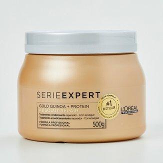 Máscara de Tratamento L'oréal Professionnel Absolut Repair Gold Quinoa + Protein - 500G