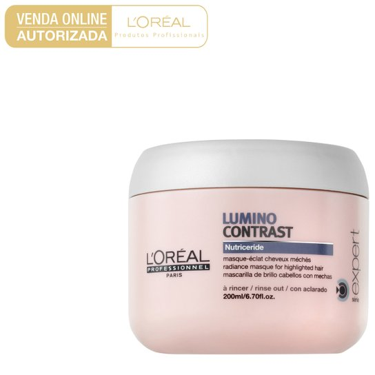Máscara de Tratamento L'Oréal Professionnel Lumino Contrast 200g - Incolor