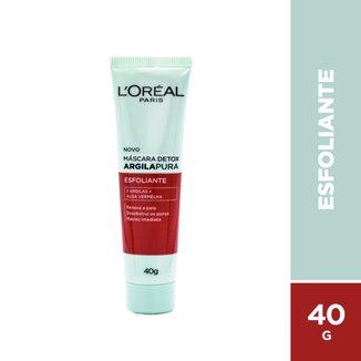 Máscara Facial Argila Pura Detox Esfoliante L'Oréal, 40g