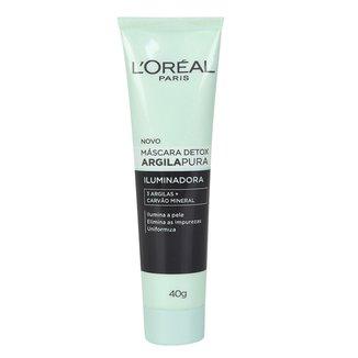 Máscara Facial Argila Pura Detox Iluminadora L'Oréal, 40g