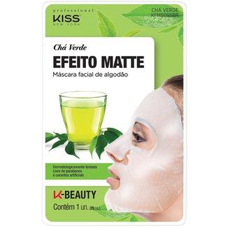 Máscara Facial de AlgodãoChá Verde Kiss New York