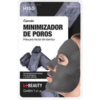 Máscara Facial de Bambu Carvão Kiss New York