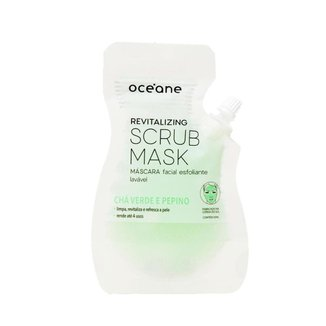 Máscara Facial Esfoliante Océane - Revitalizing Scrub Mask Chá verde e Pepino 35ml