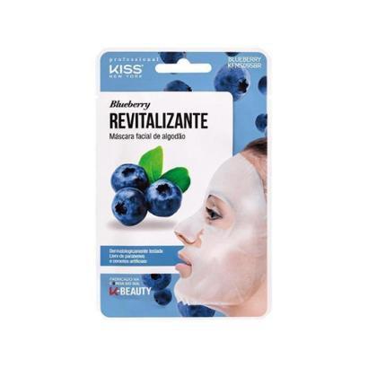 Máscara Facial Kiss New York Professional Revitalizante Blueberry - 20ml