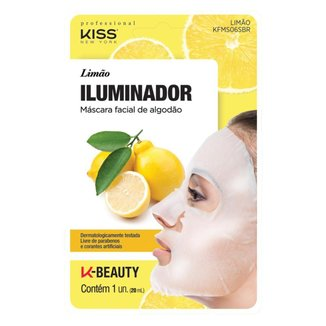 Máscara Facial Kiss NY - Limão 1 Un