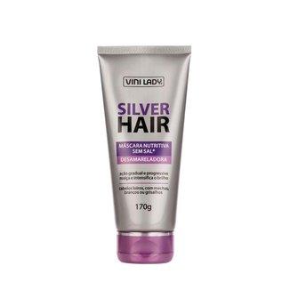 Máscara Hidratante para Cabelo Silver Hair 170g Vini Lady