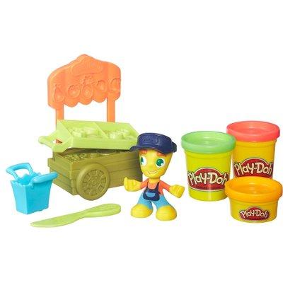 Massa de Modelar com Figura e Veículo - Play-Doh Town - Barraca de Frutas - Hasbro