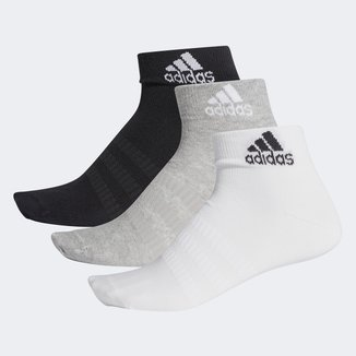 Meia Cano Baixo Adidas Ligth Ankle Pacote com 3 Pares