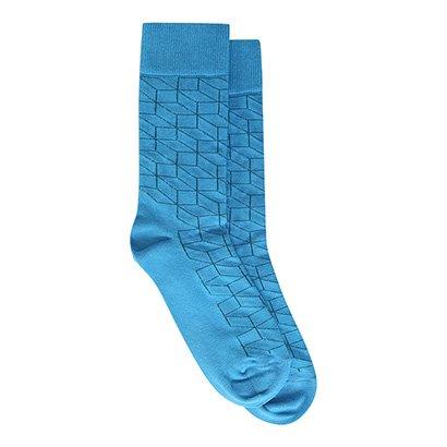 Meia Happy Socks Cano Alto Optic Feminina-Feminino