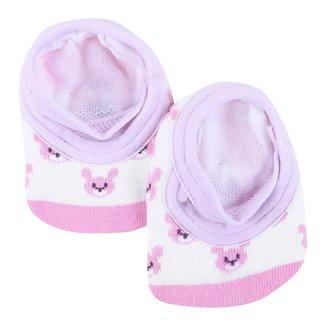 Meia Sapatilha Para Bebê Lupo Feminina