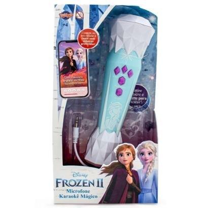 Microfone Karaokê Mágico Frozen 2 com Música Toyng