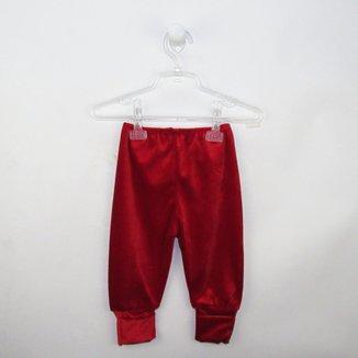 Mijão Bebê Unissex Plush com Pé Reversível Vermelho-G