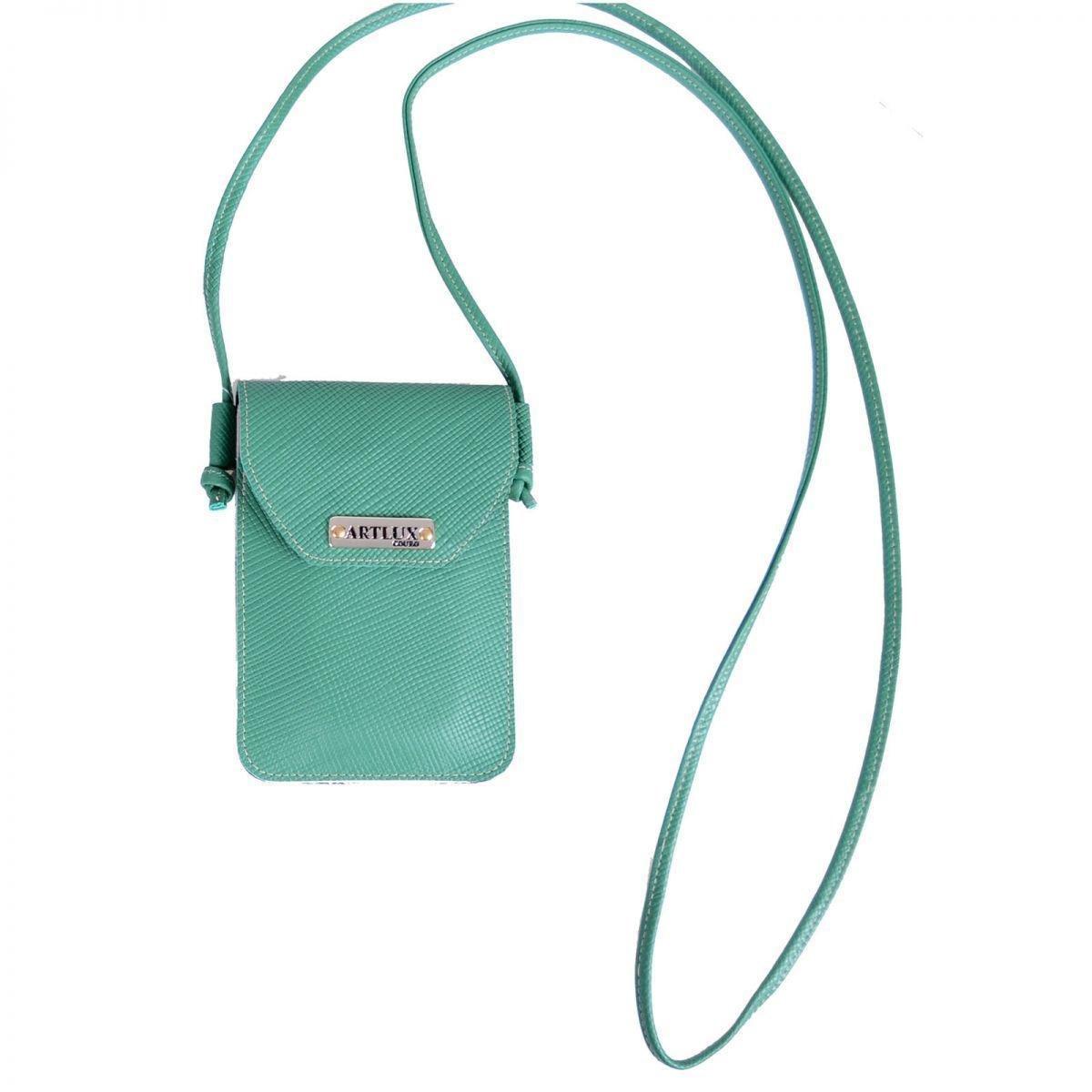 56232164bd Mini Bolsa Artlux Transversal de Couro - Compre Agora