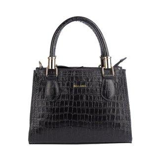 Mini bolsa de couro estruturada Andressa Feminina