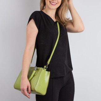 Mini bolsa de couro estruturada Andressa