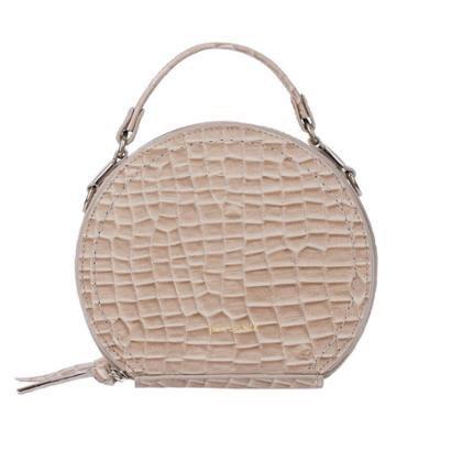 Mini bolsa redonda de couro Renata Feminina