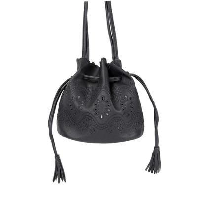 Mini Bolsa Saco Bucket Alça Transversal Feminina-Feminino