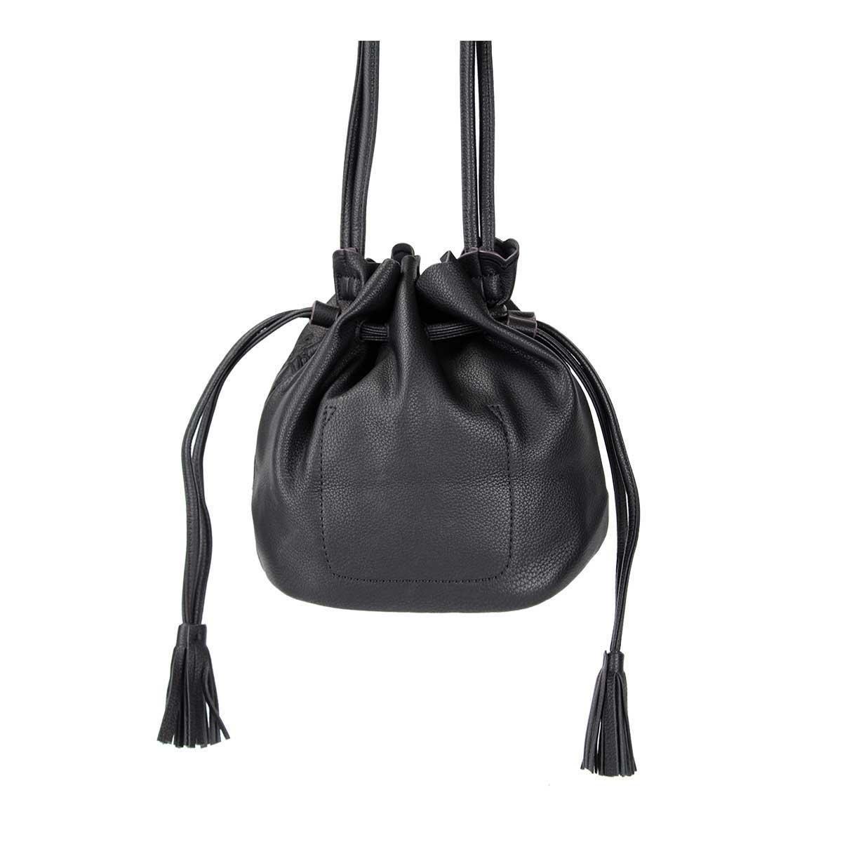 Mini Bolsa Saco Bucket Alça Transversal Feminina - Preto - Compre ... 50a8ea498a9