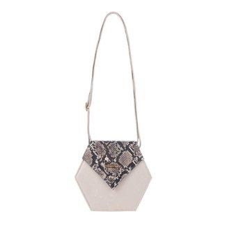 Mini bolsa tiracolo de couro estampado Gabi