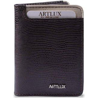 Mini Carteira Artlux em Couro