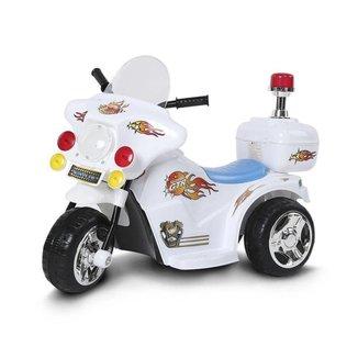 Mini Moto Elétrica Importway Policia 6V 18W Bw006br - Branca