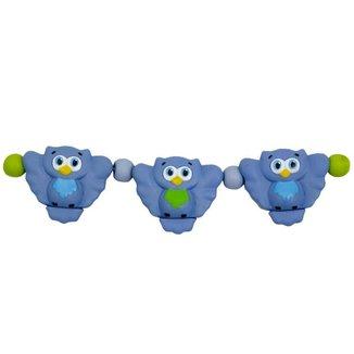 Móbile Bebê Menino Coruja Vila Toy Azul