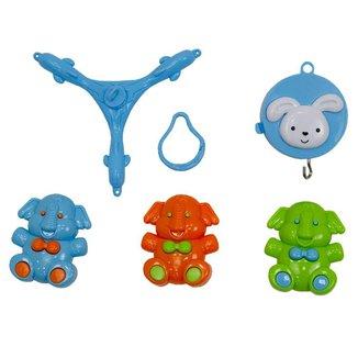 Móbile Bebê Menino Pais e Filhos Azul