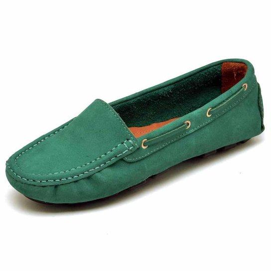 Mocassim Carmelo Shoes Casual Feminino - Verde