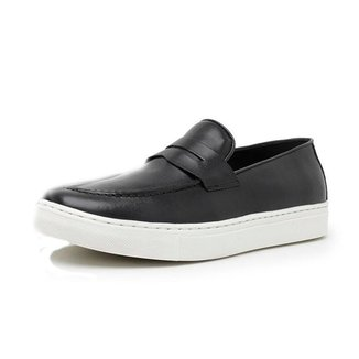 Mocassim Couro Rvs Shoes Penny Loafer Casual Masculino