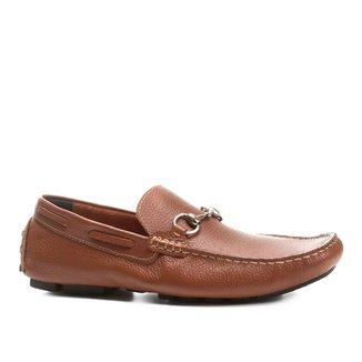 Mocassim Couro Shoestock Bridão Masculino