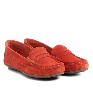 Mocassim Couro Shoestock Colors Feminino