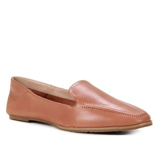 Mocassim Couro Shoestock Comfy Feminino