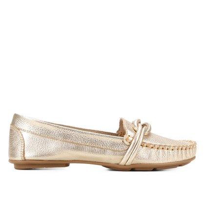 Mocassim Couro Shoestock Comfy Nó
