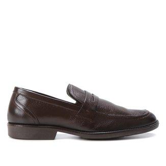 Mocassim Couro Shoestock Confort Gravata Masculino