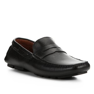 Mocassim Couro Shoestock Detalhe Cadarço Masculino