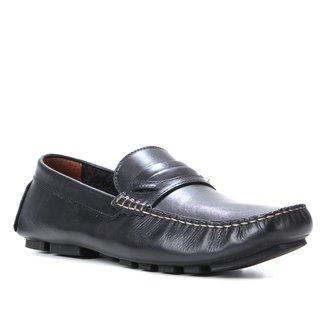 Mocassim Couro Shoestock Detalhe Gravata Masculino