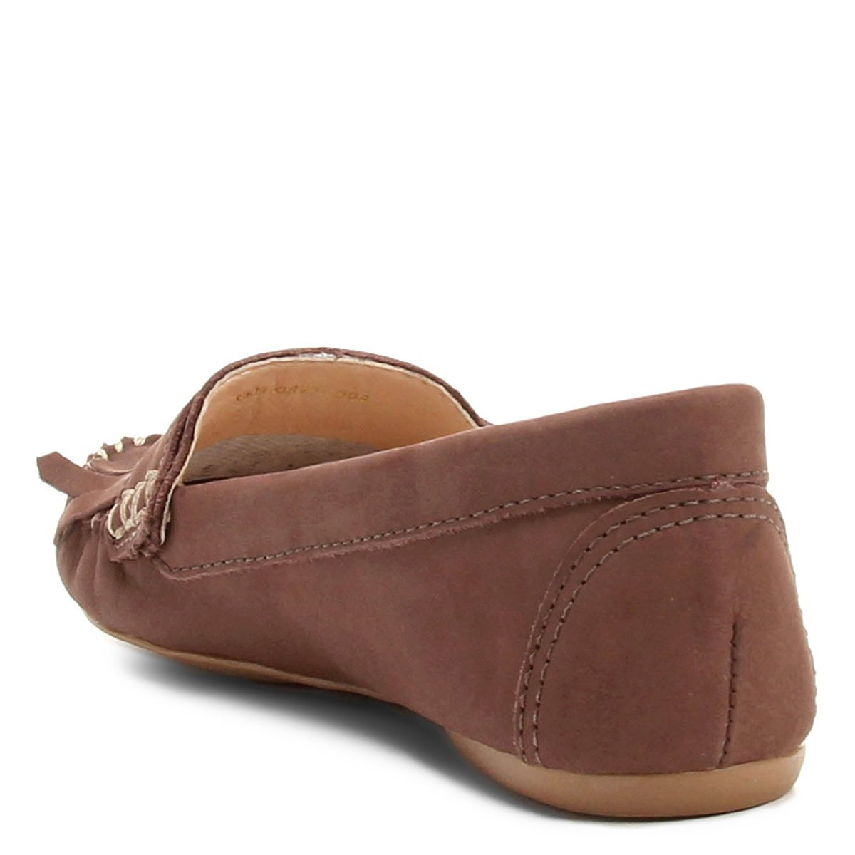 Franja Mocassim Feminino Bege Couro Shoestock Barbicachos Couro Mocassim xIHIrPq4