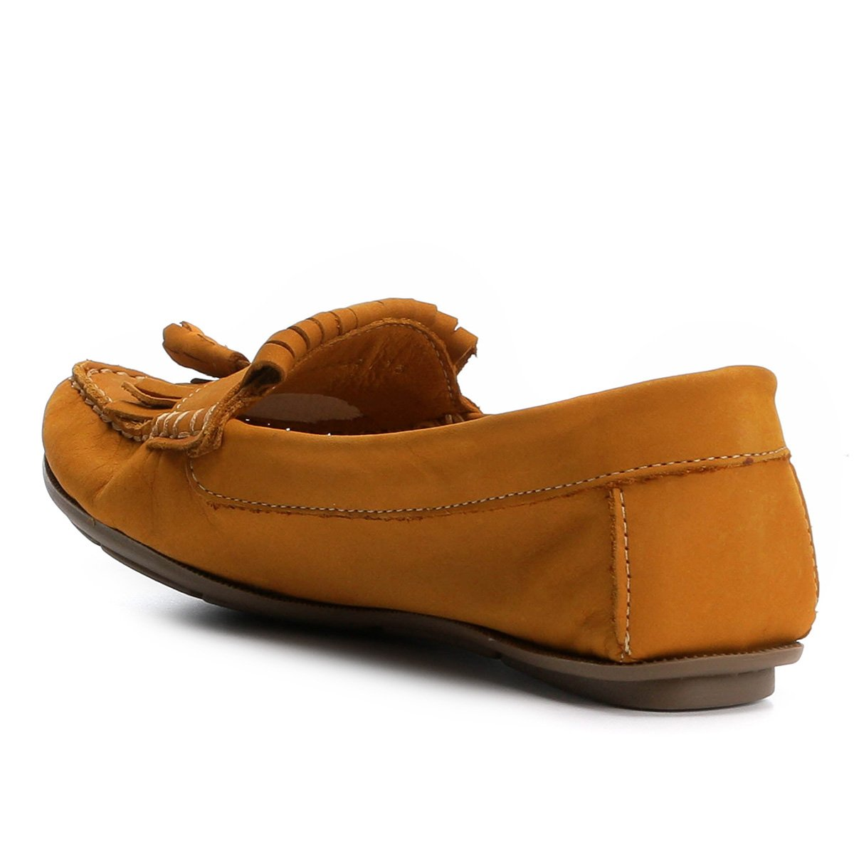 43c29e4597 Mocassim Couro Shoestock Franja Feminino - Compre Agora